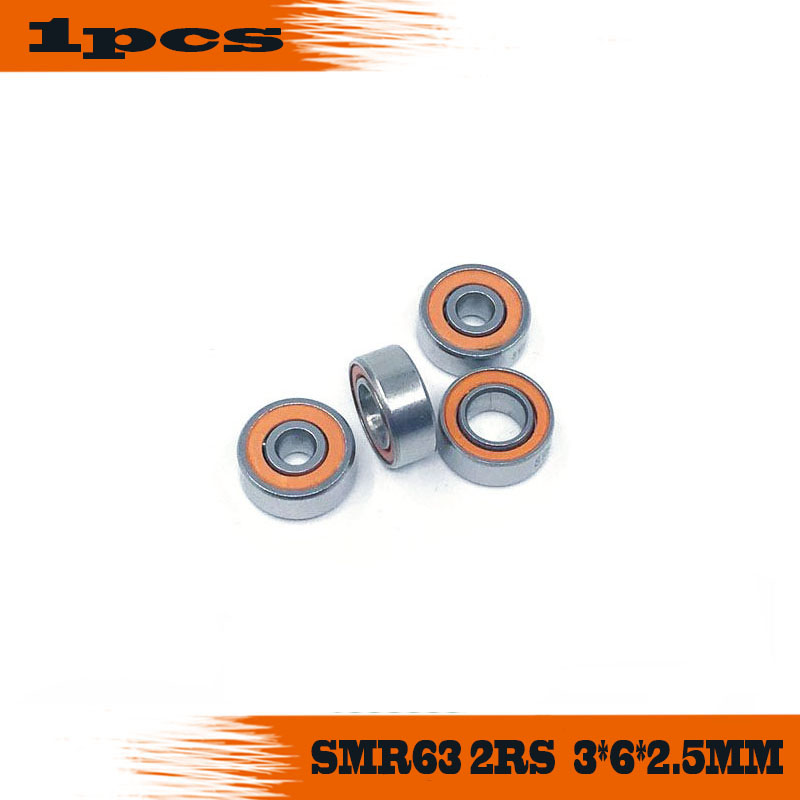 Free shipping 1PC <font><b>3X6X2.5mm</b></font> SMR63-2RS CB ABEC7 Stainless Steel Hybrid Ceramic <font><b>Bearings</b></font>/Fishing Reel <font><b>Bearings</b></font> SMR63 2OS image