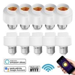 10 упак., Tuya Smart Life, Wifi, умный светильник, лампочка, розетка, адаптер, E27 переключатель, работает с Amazon Alexa Google Home IFTTT