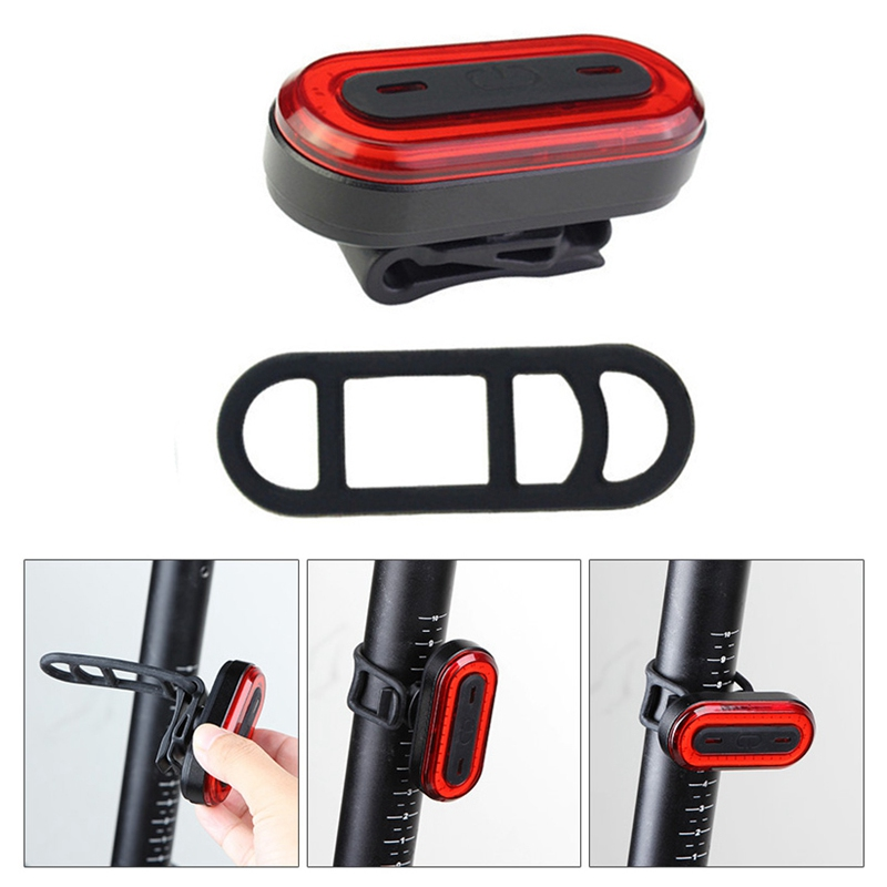Cycling LED Tail Light Back Lamp Bicycle Rear Light USB Rechargeable Waterproof Bike Warning Flash Light Bicycle Accessories WQ8