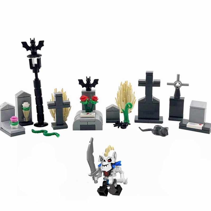 Legoing Movie Monster Vitruvius Ghost Zombie Halloween Action Figures Building Blocks Toys for Children Assemble Block