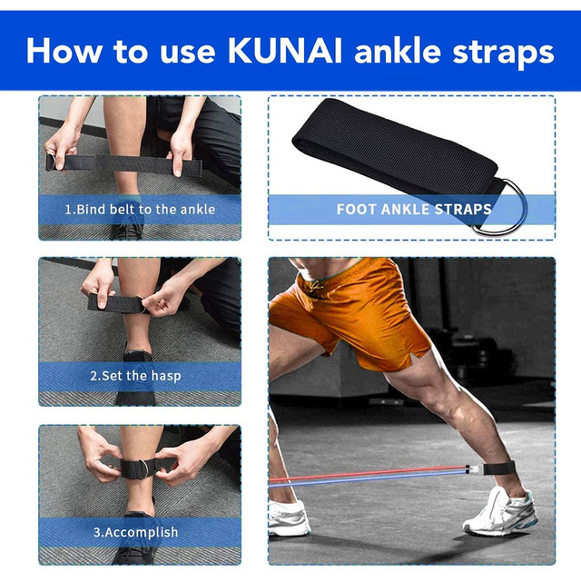 Exercise Resistance Bands Set Up to 115 lbs Fitness Stretch Workout Bands with 5 Fitness Tubes Home Gym Yoga Equipment Men Women 3