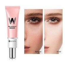 Primer maquillaje que reduce los poros, Base de imprimación, cara suave, ilumina la piel, poros invisibles, Base antiojeras en crema