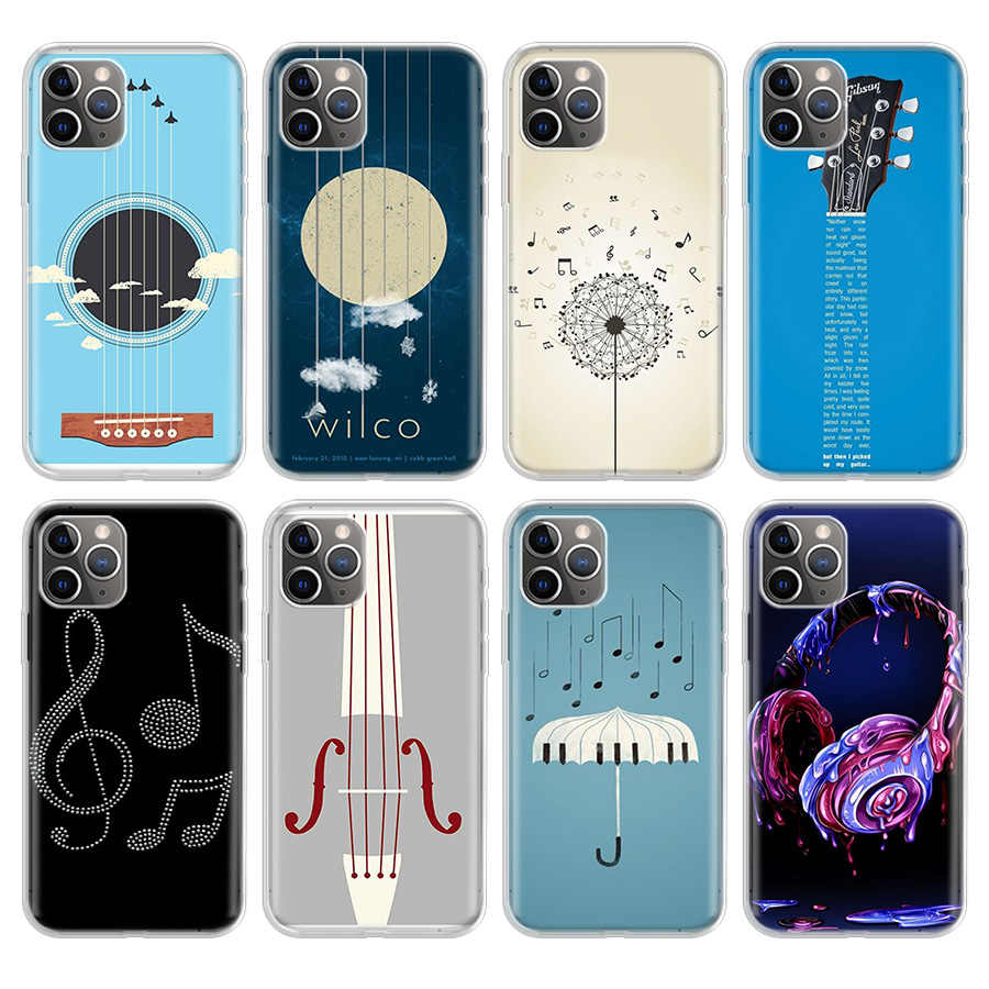 Musical Notes Phone case For iphone 5 5S 6 plus 7 8 8plus 11 Pro X ...