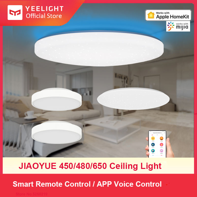 Yeelight Smart LED Ceiling Lamp Indoor Lighting Modern Led Light Fixture APP Remote Control Surface Mounted For Living Room 50W