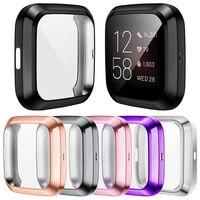 Protector de pantalla suave para Fitbit Versa 3 2 1/ Sense, funda ligera de Tpu resistente a los arañazos, accesorios de carcasa