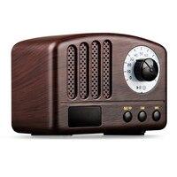 Classic Retro Bluetooth Speaker Wood 5W Loudspeaker Supprot TF Card AUX FM Radio Music Soundbar Wireless Speaker Woofer