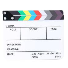 Director Video Scene Clapperboard Clapper Board Acrylic Director TV Movie Film Action Slate Clap Handmade Cut Prop(China)