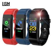 115 Plus Smart Bracelet Watch Men Women Waterproof Heart Rate Monitor Blood Pressure Fitness Tracker Sport for IOS Android