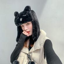 Женские шапки nomber женские зимние хлопковые в форме кота защита