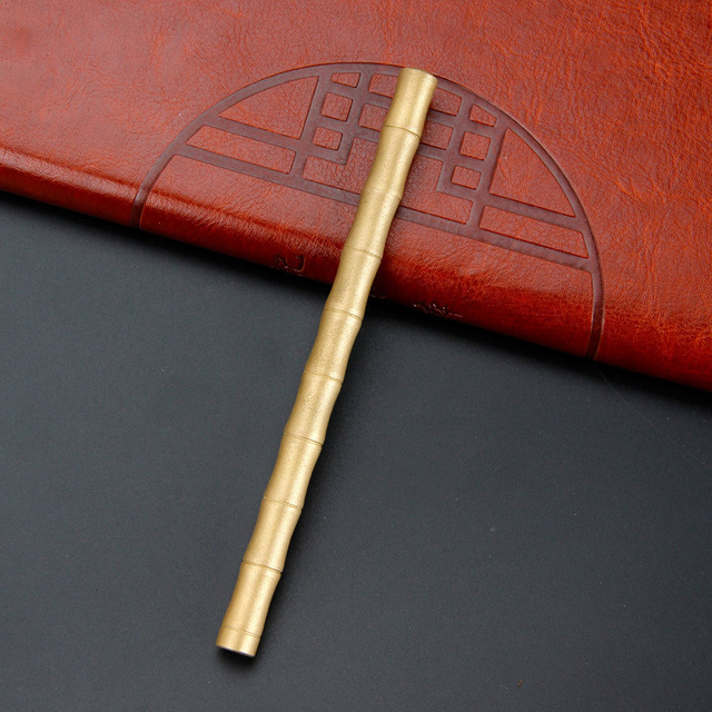 Creative bamboo brass metal ball-point pen pen hand 5