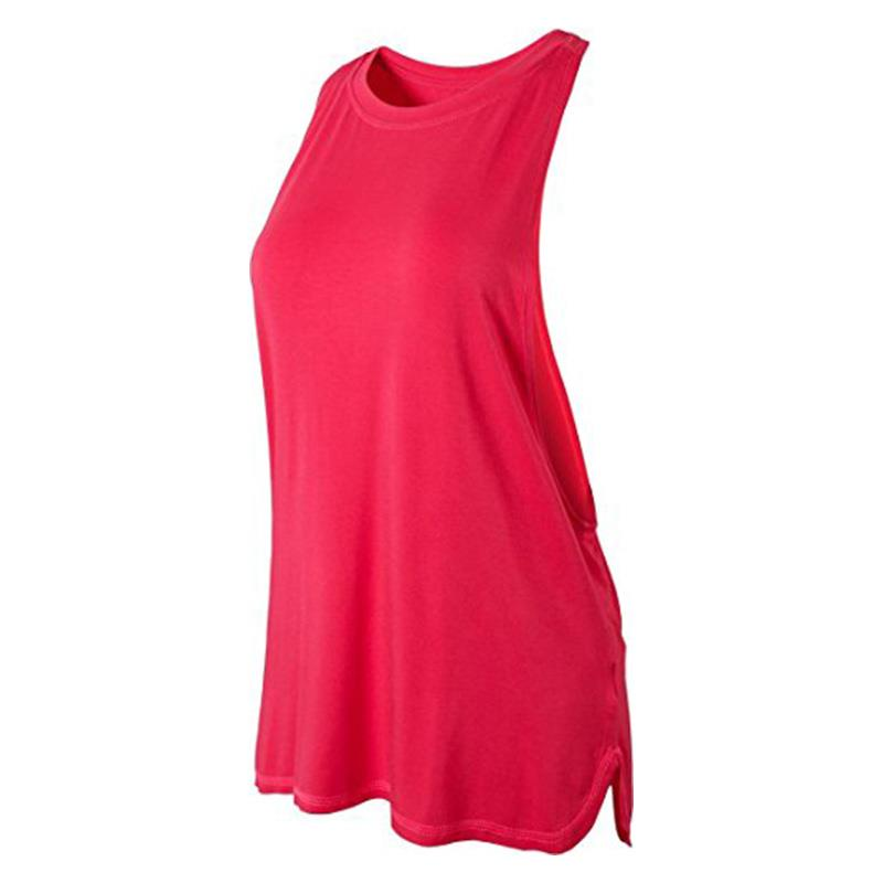 Jeansian Women's Quick Drying Slim Fit Tank Tops Tanktops Sleeveless Vest Singlet SWT239 RoseRed2