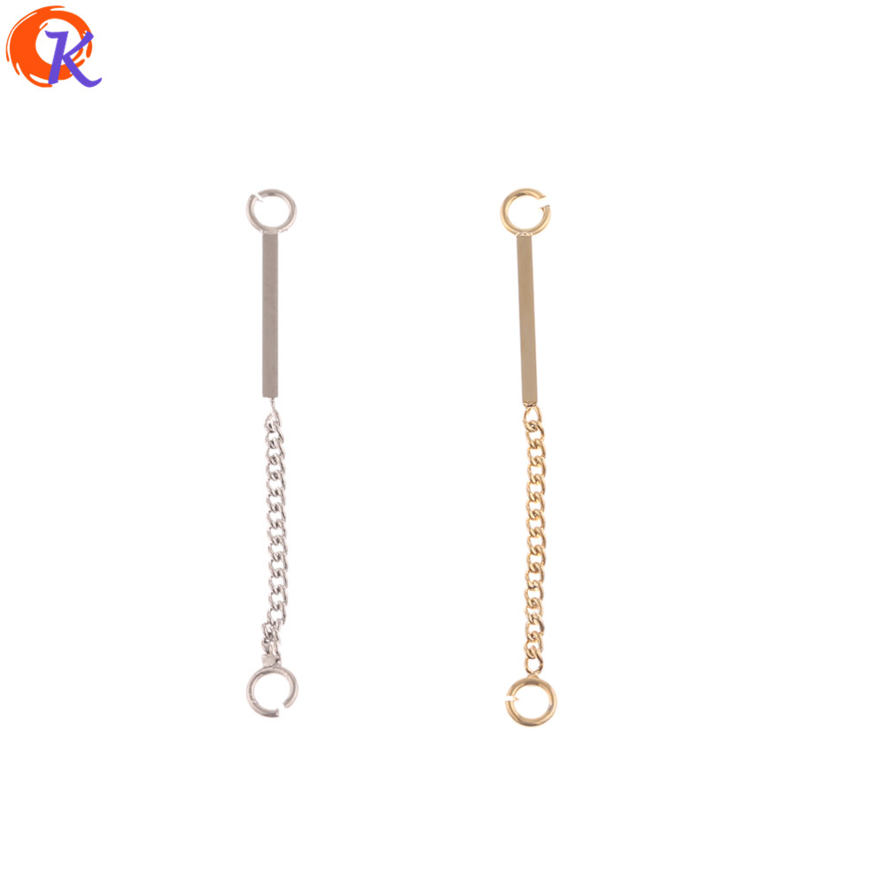 Cordial Design 40Pcs 3*31MM DIY Accessories/Hand Made/Genuine Gold Plating/Chain Shape/Connectors/Jewelry Findings Component