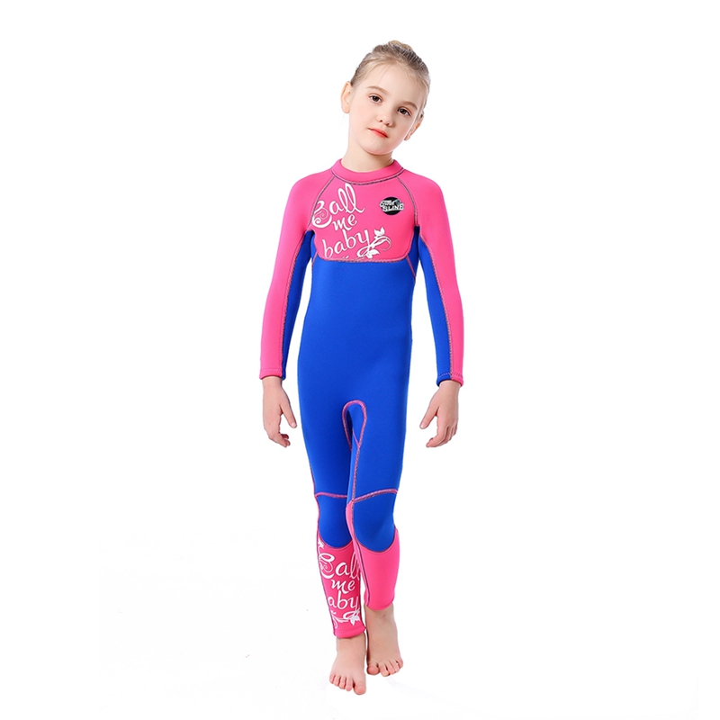 Children Girl Swimsuit Swimming Children Long Sleeve One-Piece Sunshade Thermal 3mm Swimsuit Swim Diving Surfing Suit