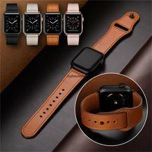 цена 40/44mm Genuine Leather iWatch Strap for Apple Watch Band Series 4 3 2 1 38/42mm Luxury Leather Watch Band Strap онлайн в 2017 году
