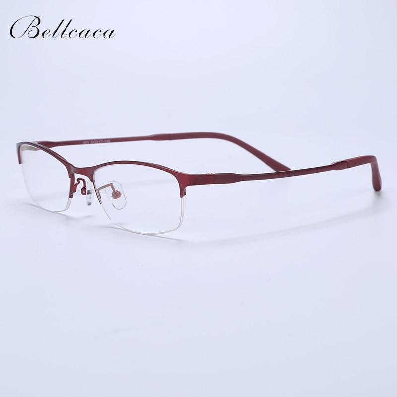 Bellcaca Spectacle Frame Women Eyeglasses Computer Optical Transparent Clear Lens Eye Glasses Frame For Female Eyewear 001