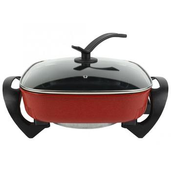 цена на Multifunctional Electric Cooker High-quality Non-stick Square Pot Hotpot Noodles Rice Eggs Soup Steamer Cooking Pot 220V 110V