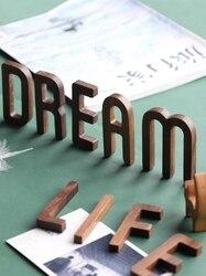 Musowood 1 шт. орех деревянные буквы высокое качество алфавит дизайн английский DIY Ремесло Свадьба День Рождения Вечеринка украшение стены дома