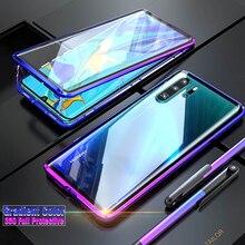 Funda magnética de lujo para Huawei P30 Pro P40 Lite P20 Mate 20 Pro P 30 40, funda protectora de cuerpo completo de vidrio de doble cara, 360