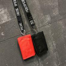 Fashion Women Nylon Wallet Case Pouch Organizer Travel Credit Card Holder Purse Bag with Detachable Neck Strap Lanyard