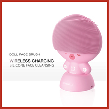 BLINGBELLE Silicone Face Massage Ultrasonic Cleaner Wireless Charging Facial Cleansing Brush Doll shape 5 Gears