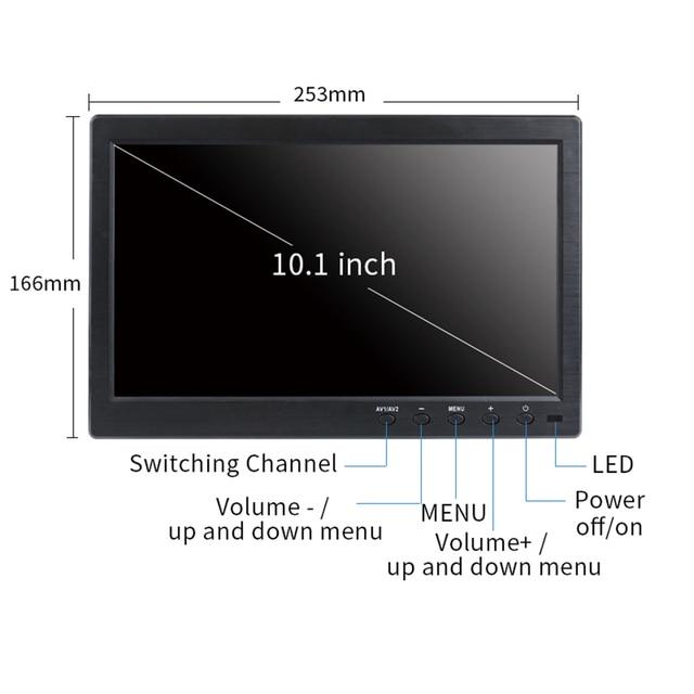 """13.3"""" HD monitor pc 1366x768 portable monitor LCD TV Display PS4 with HDMI VGA USB AV BNC 12/10.1 inch gaming monitor 6"""