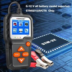 Image 3 - Konnwei kw650 6v 12v bateria de carro tester 100 2000 cca motocicleta bateria sistema analisador de carregamento cranking teste ferramenta de diagnóstico