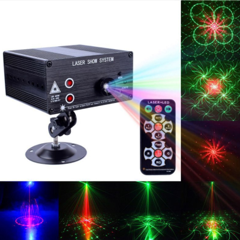 Remote Control 3 beam 48 pattern LED Laser Projector Christmas party DJ light Voice-activated Disco Xmas for wedding