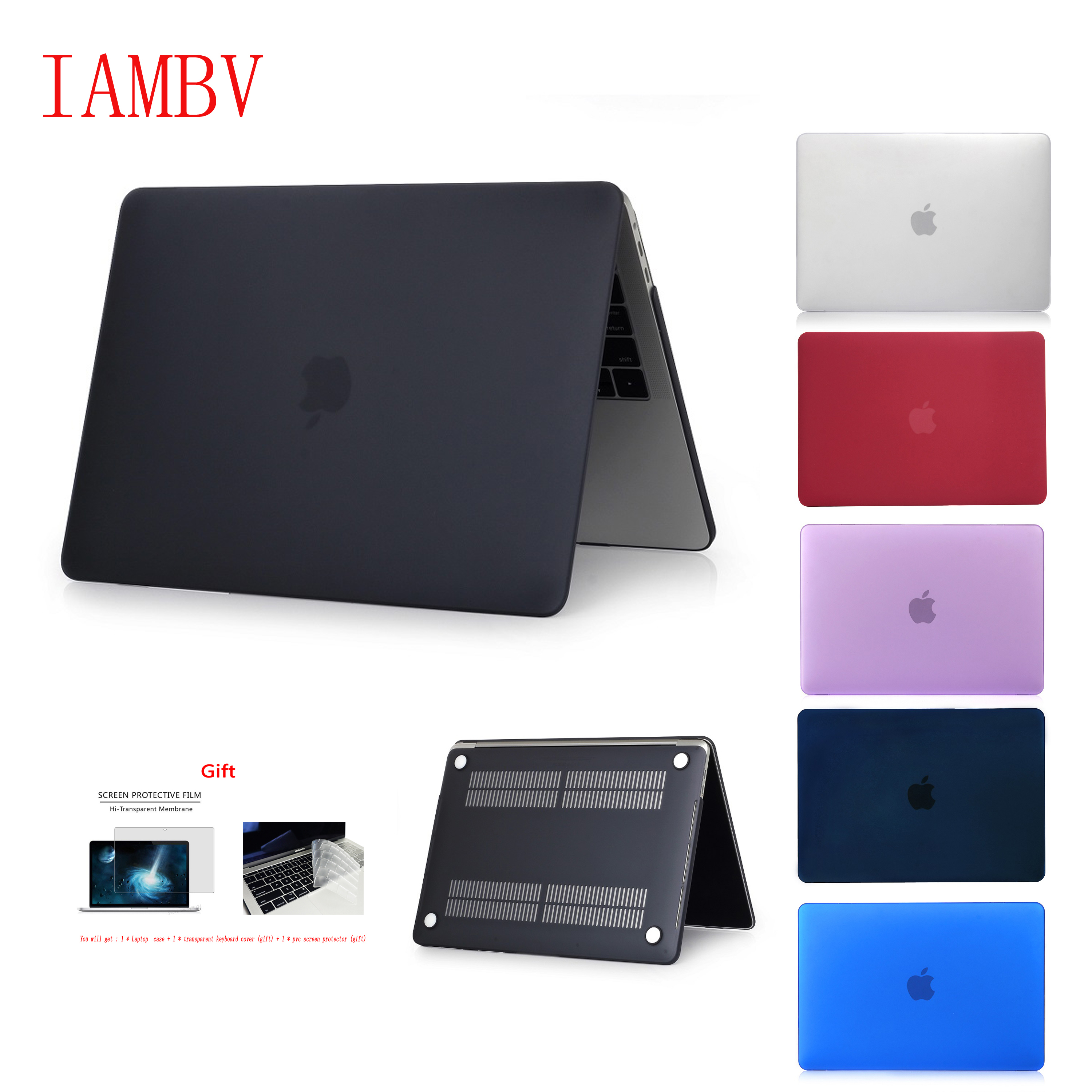 Crystal\Matte Case For Apple Macbook Air Pro Retina 11 12 13 15 16,for Pro 13 15.4 16 inch With Touch BarA1932 New ProA2141+Gift