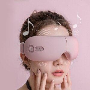 Bluetooth умный Вибрационный массажер для глаз прибор для ухода за глазами горячий сжатие очки инструмент Misic складной защитный массажер для гл...
