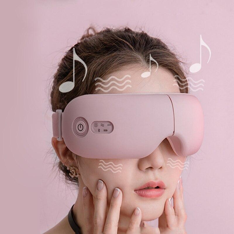 Bluetooth Smart Vibration Eye Massager Eye Care Device Hot Compress Glasses Instrument Misic Foldable Eye Protection Massager