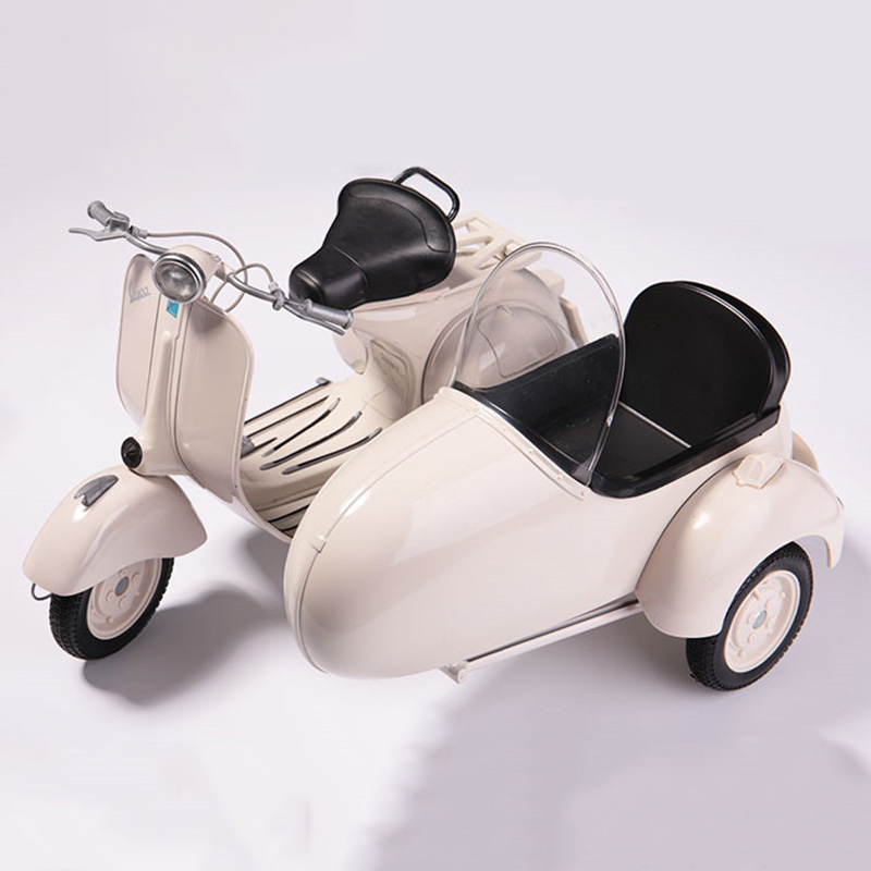 1/6 Scale Vintage Three Round Motorbike Metal Alloy Die Casting Motorcycle Model Toy For Collection Gift