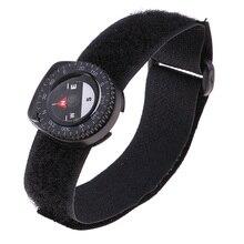 Черный запястье компас-Военный Открытый выживания часы ремешок браслет