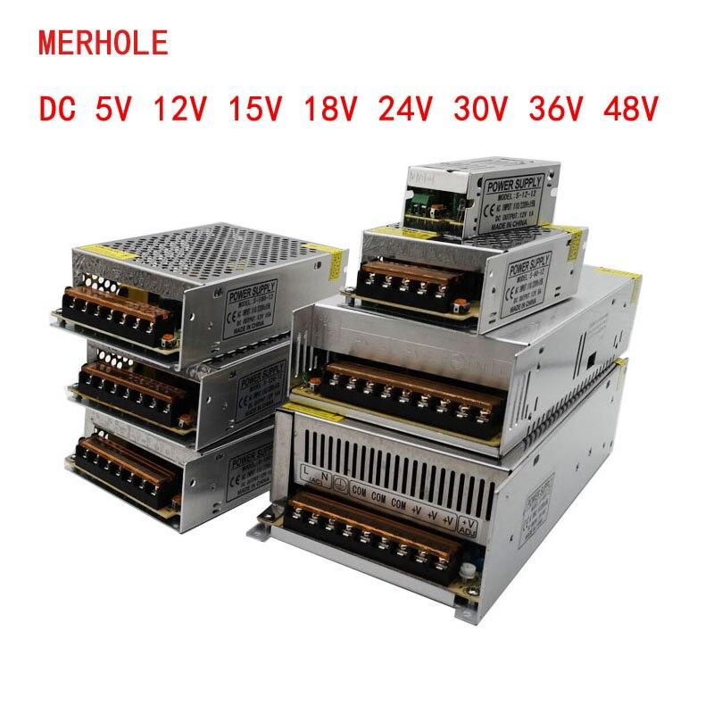 Transformateur de lumière de commutateur de courant LED ca 110V 220V à DC5V 12V 15V 24V 36V 48V adaptateur de Source d'alimentation pour bande de Led