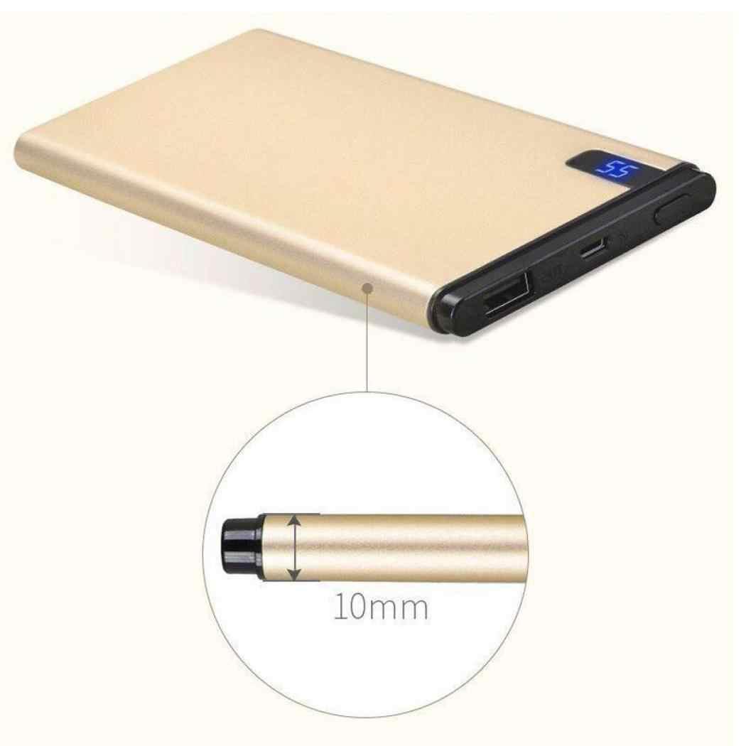 Mince 20000mAh batterie externe Portable Ultra-mince polymère Powerbank batterie appauvrbank 30000mah avec lumière LED pour téléphone Portable