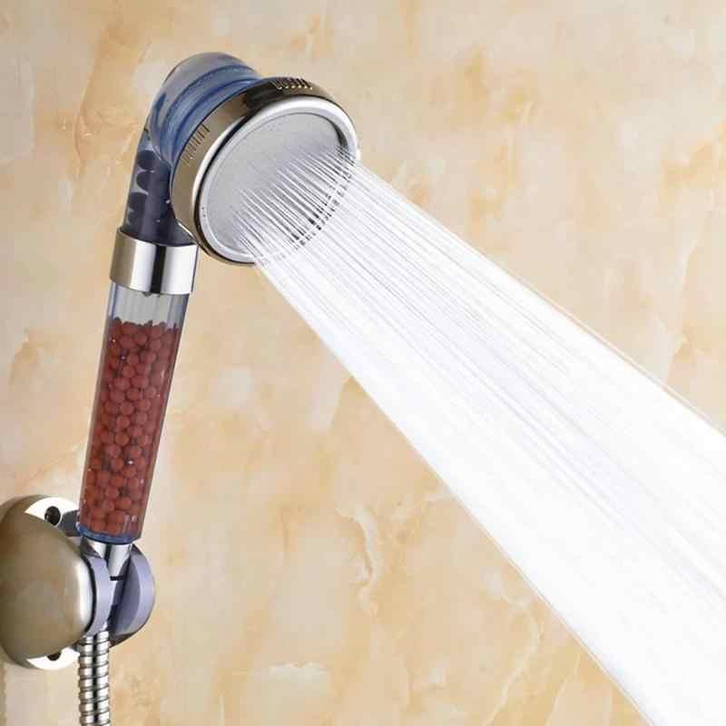 يده لوتس الرش فلتر الاستحمام ارتفاع ضغط درجة الحرارة الاستشعار أنيون دش سماعات رأس دش سبا فوهة تصفية المياه