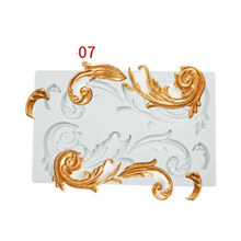 Silicone Molds Baroque Style Relief Border Mould for Clay Crafts 3d Diy Flower Lace Cake Decorating Tools Soap Plaster Mold Mat