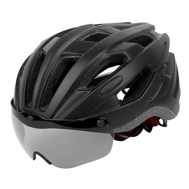Фото шлем для езды на велосипеде со съемным козырьком очки взрослых