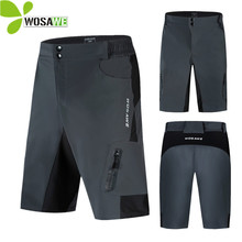 WOSAWE Men Loose Fit Knee Cycling Shorts Underwear Motorcycle Bicycle Breathable Water Dirty Resistance Downhill MTB Bike Short