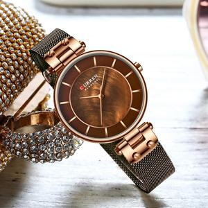 Image 5 - CURREN Creative Simple Quartz Watch Womens Dress Steel Mesh Watches New Clock Ladies  Bracelet  Watch relogios feminino
