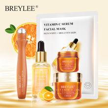 BREYLEE — Masque hydratant pour le visage et les yeux, produit blanchissant de la série vitamine C, sérum, élimine les tâches foncées autour des yeux, soins pour la peau, set pour toutes les peaux, sans âge,