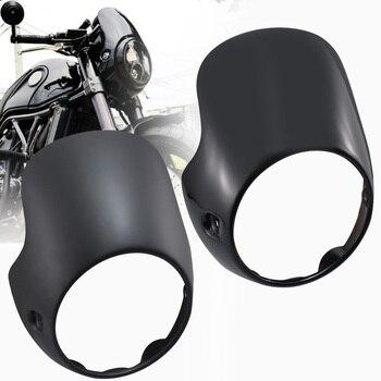 For Triumph Bonneville T100 T12 Thruxton Monster CB150 R18 Retro Cafe Headlight Fairing Flyscreen Surround Headlamp Windshield