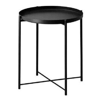 Iron art table Modern desk Coffee table Desktop dual use Metal Macaron Living Room Furniture 44*52cm