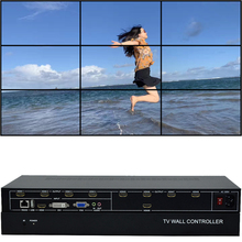 9 Channels TV Wall Controller 3x3 2x4 4x2 HDMI DVI VGA USB Video Processor TV Splicing Box With RS232 Control high quality hdmi video wall controller 2x2 processor splitter hdmi