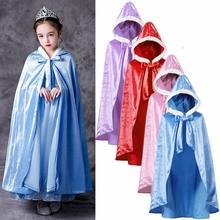 Cloak Cape Cosplay-Accessory Rapunzel Girls Princess Cinderella Elsa for Role-Play Party
