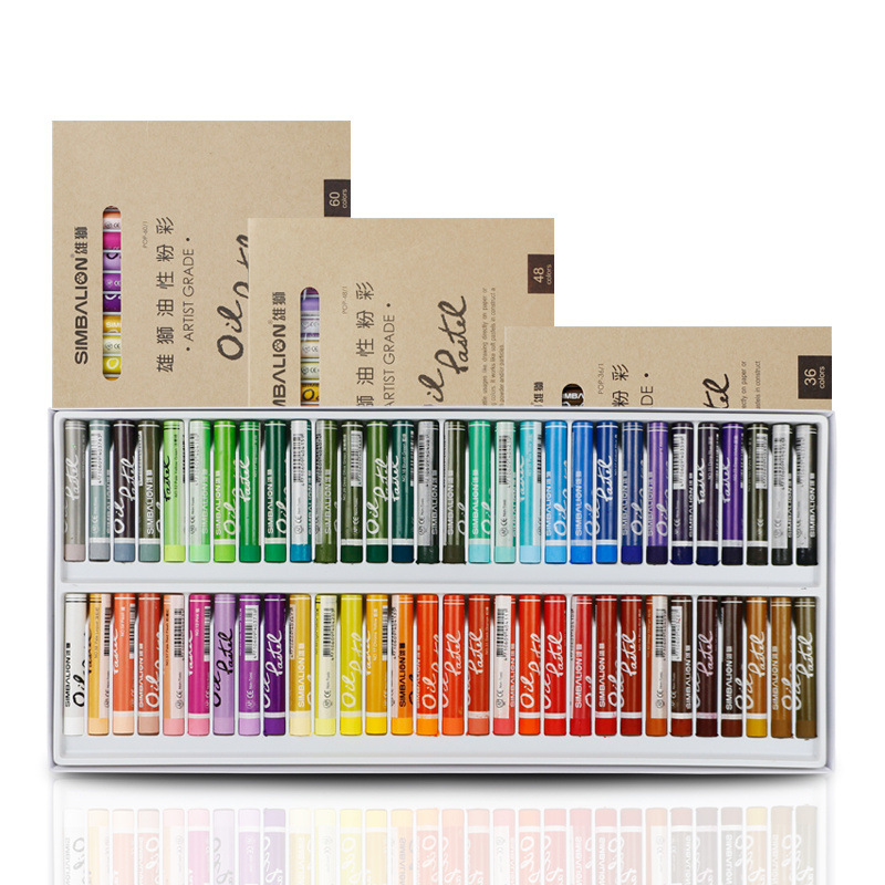 Painting Crayons Soft Pastel 12/24/36/48/60 Colors/Set Art Drawing Set Chalk Color Crayon Brush Stationery For Students