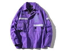 Chaqueta de otoño 2020 para homem, chaquetas rompevientos com cremallera, abril estampado com letras, ropa estilo informal quadril