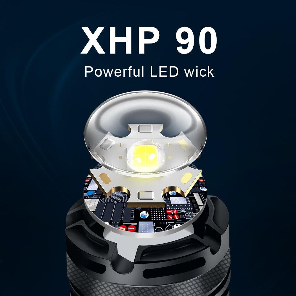 2021 nova alta poderosa led xhp90 lanterna 01