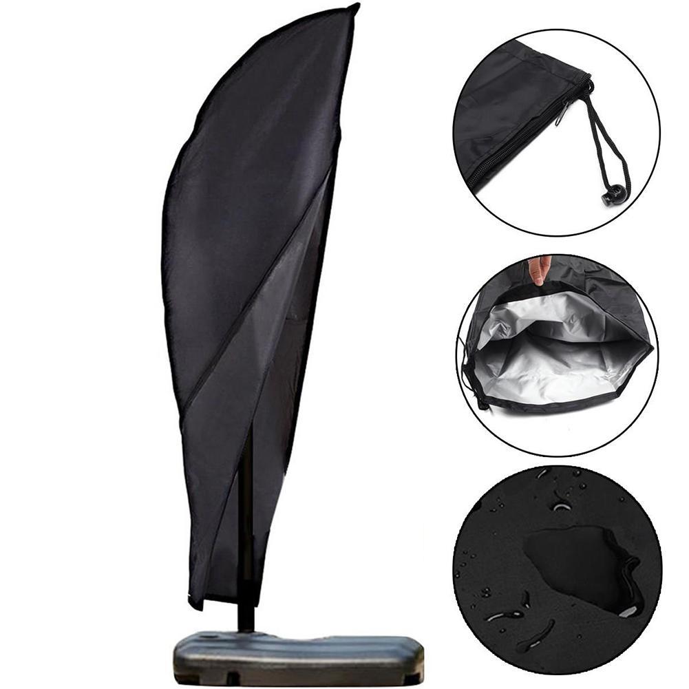 210D Oxford Cloth Outdoor Garden Patio Parasol Umbrella Cover Waterproof Dustproof Umbrella Storage Bags Home Organization