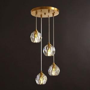 Image 1 - נורדי מודרני תליון אורות מסעדה יחיד/4 ראש זכוכית כדורי תליית מנורות אוכל חדר ספירלת לופט תליון אור גופי