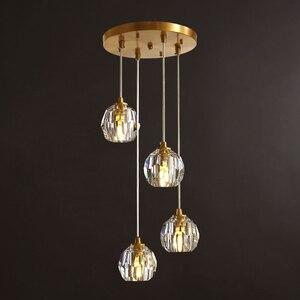 Image 1 - Nordic moderno pingente luzes restaurante único/4 cabeça bolas de vidro pendurado lâmpadas sala jantar espiral loft pingente luminárias